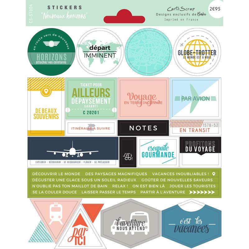 Stickers Cartoscrap - Nouveaux Horizons