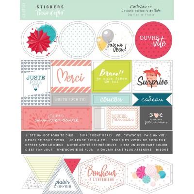 Stickers Cartoscrap - Plaisir d'Offrir
