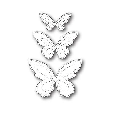 Die Poppystamps - Stitched Butterfly Trio