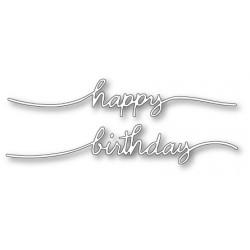 Die Poppystamps - Happy Birthday Streamer