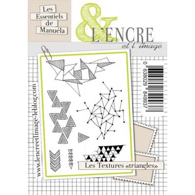"""Tampons L'Encre & l'Image - Les Essentiels de Manuéla - Les Textures """"Triangles"""""""