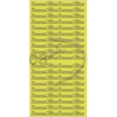 Stickers Peel-off - Bonne Fête - Or (Geca)