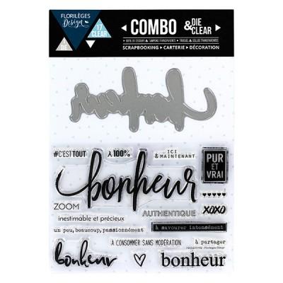Combo Clear Die Florilèges - Bonheur