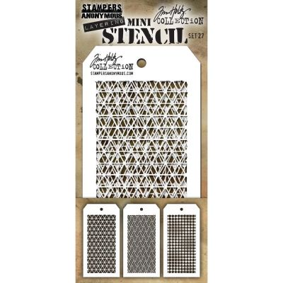 Mini Layered Stencil Tim Holtz - Set 27