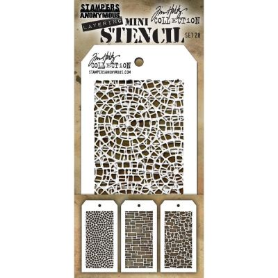 Mini Layered Stencil Tim Holtz - Set 28