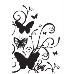 Pochoir de gaufrage KaiserCraft - Butterfly Flourish