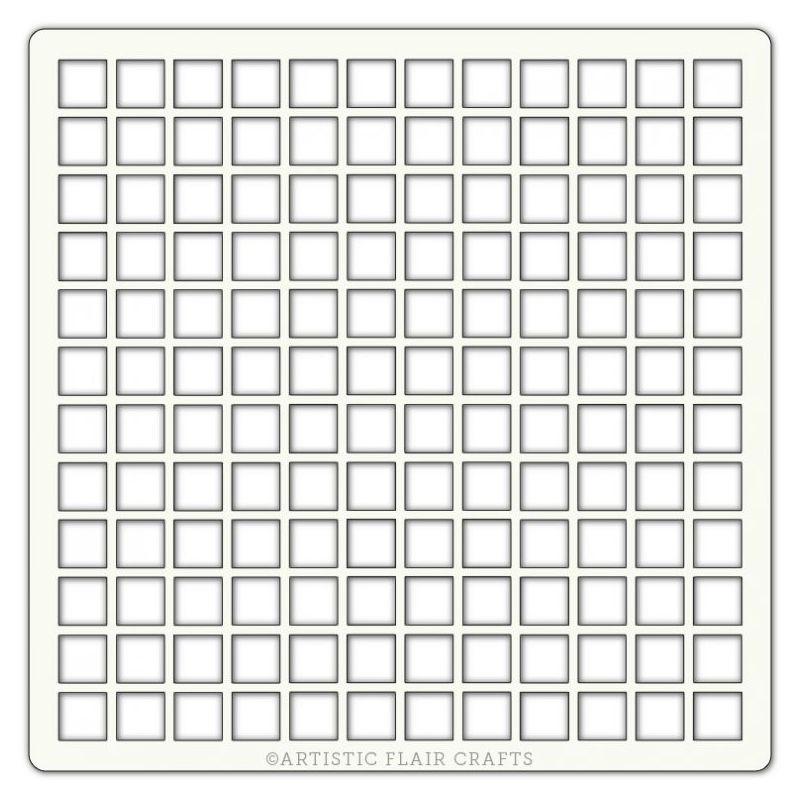 Pochoir Artistic Flair - 15x15 cm - Grid