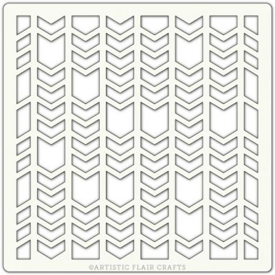 Pochoir Artistic Flair - 15x15 cm - Chevron Segments