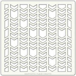 Pochoir Artistic Flair - 15x15 cm - Chevron Segments