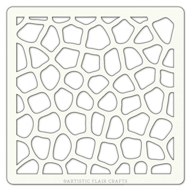 pochoir artistic flair 10x10 cm mosaic texture cartoscrap. Black Bedroom Furniture Sets. Home Design Ideas