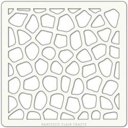 Pochoir Artistic Flair - 10x10 cm - Mosaic Texture
