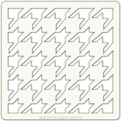 Pochoir Artistic Flair - 10x10 cm - Houndstooth