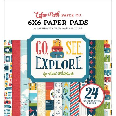 Mini Pack 15x15 - Echo Park - Go, See, Explore