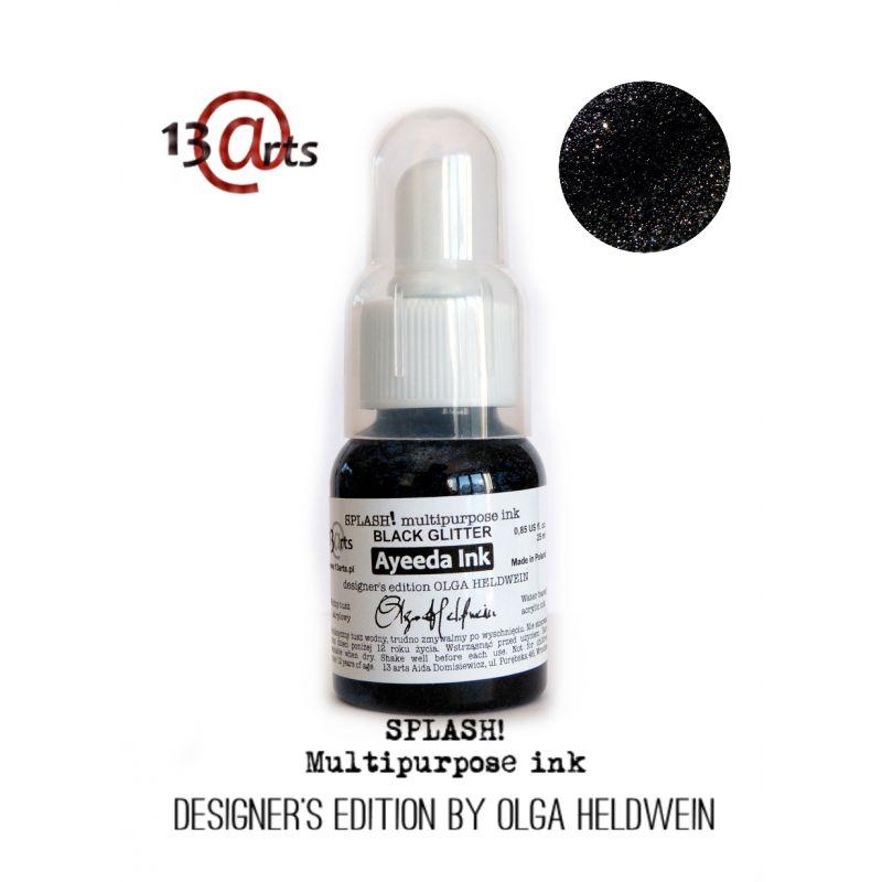 Encre acrylique Splash! - Glitter Black