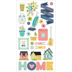 Stickers chipboards - Domestic Bliss