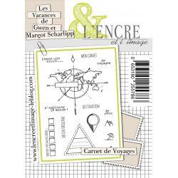 Tampons L'Encre & l'Image - Les Vacances de Gwen et Margot Scharlipp - Carnet de Voyages