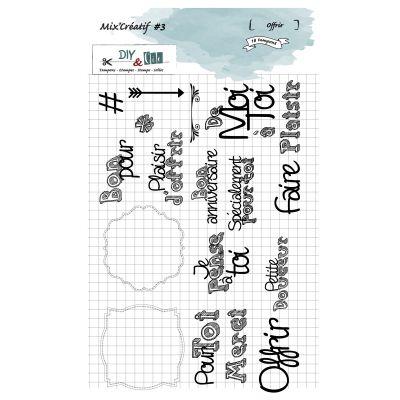Tampons DIY&Cie - Mix'Créatif - Offrir