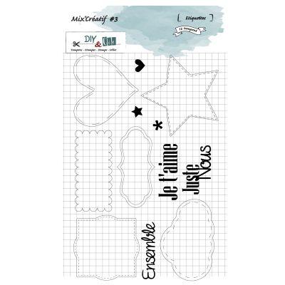Tampons DIY&Cie - Mix'Créatif - Étiquettes