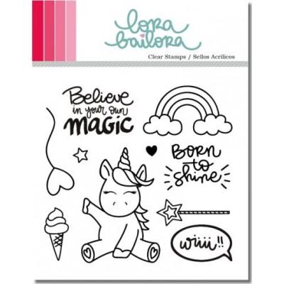 Tampons clear Lora Bailora - Unicorn (Licorne)