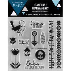 Tampons transparents Florilèges - Capsules 2017 - Esprit Scandinave