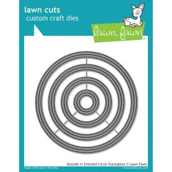 Dies Lawn Fawn - Outside In Stitched Circles Stackables
