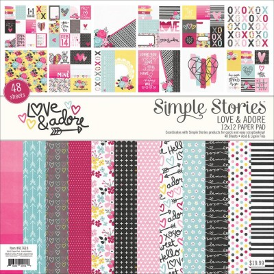 Pack 30x30 - Simple Stories - Love & Adore