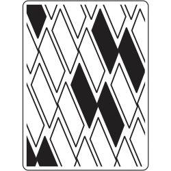 Pochoir de gaufrage Darice - Rectangle Background (Fond rectangle)