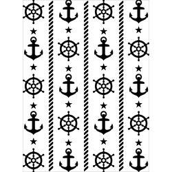 Pochoir de gaufrage Darice - Natutical Theme (Thème nautique)