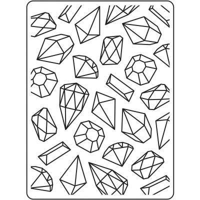 Pochoir de gaufrage Darice - Gems Background (Diamants)