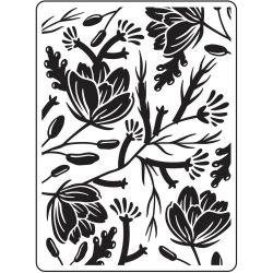 Pochoir de gaufrage Darice - Flower Pod Background (Gousses de fleurs)