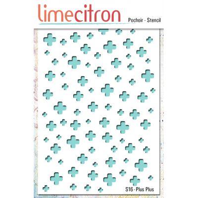Pochoir Lime Citron 10x15 cm - Plus Plus