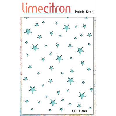Pochoir Lime Citron 10x15 cm - Étoiles