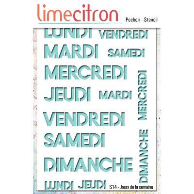Pochoir Lime Citron 10x15 cm - Jours de la semaine