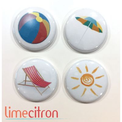 "Badges Lime Citron 1"" - Plage"