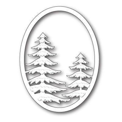 Die Memory Box - Snowy Pine Oval