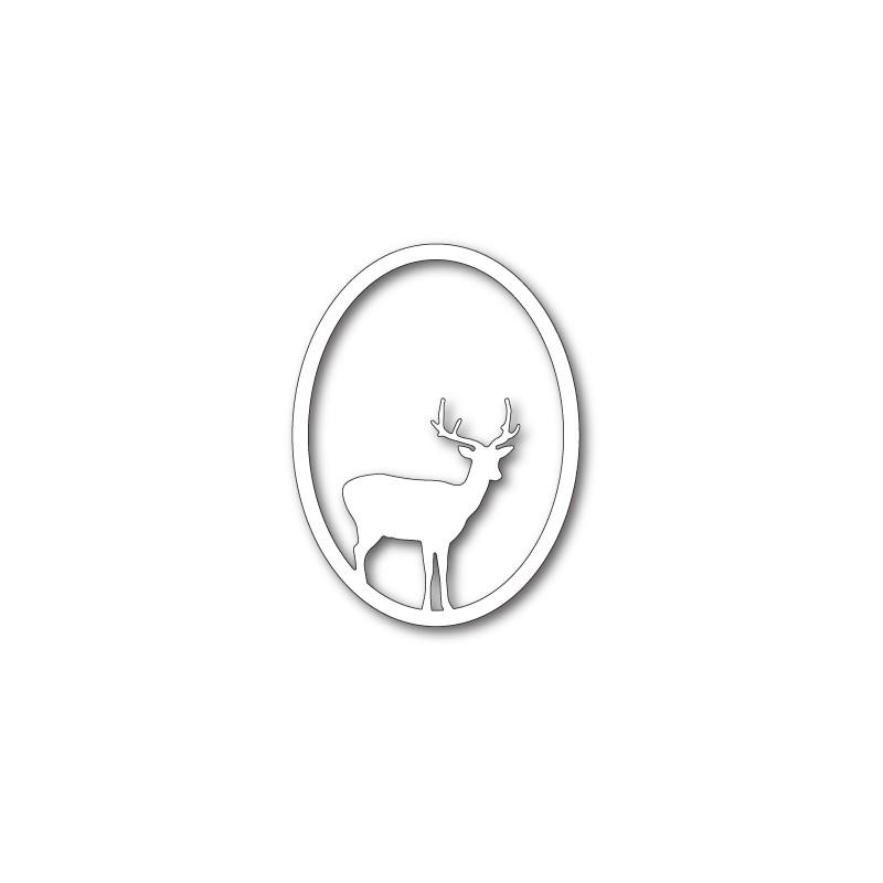Die Memory Box - Single Deer Oval