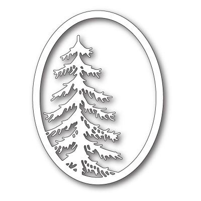 Die Memory Box - Tall Pine Oval