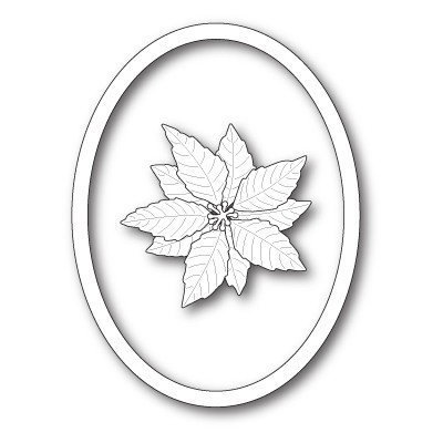Die Memory Box - Decorative Poinsettia Oval