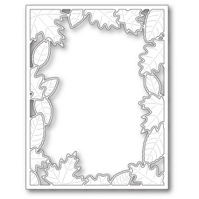 Die Poppystamps - Brilliant Leaf Frame