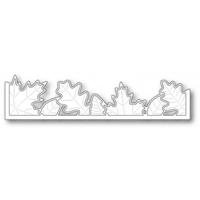 Die Poppystamps - Brilliant Leaf Border