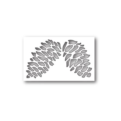 Die Poppystamps - Double Pinecone Collage