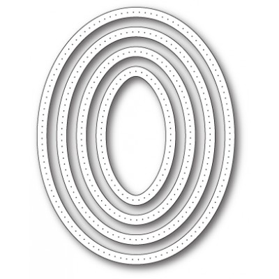Die Poppystamps - Pointed Oval Frames