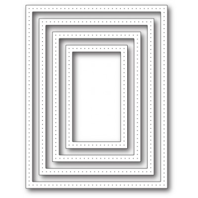Die Poppystamps - Pointed Rectangle Frames