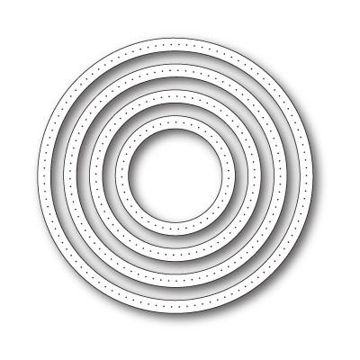 Die Poppystamps - Pointed Circle Frames