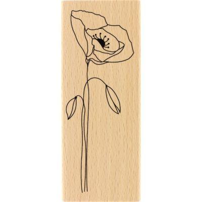 Tampon bois Florilèges - Long coquelicot