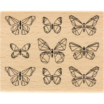Tampon bois Florilèges - Papillons graphiques