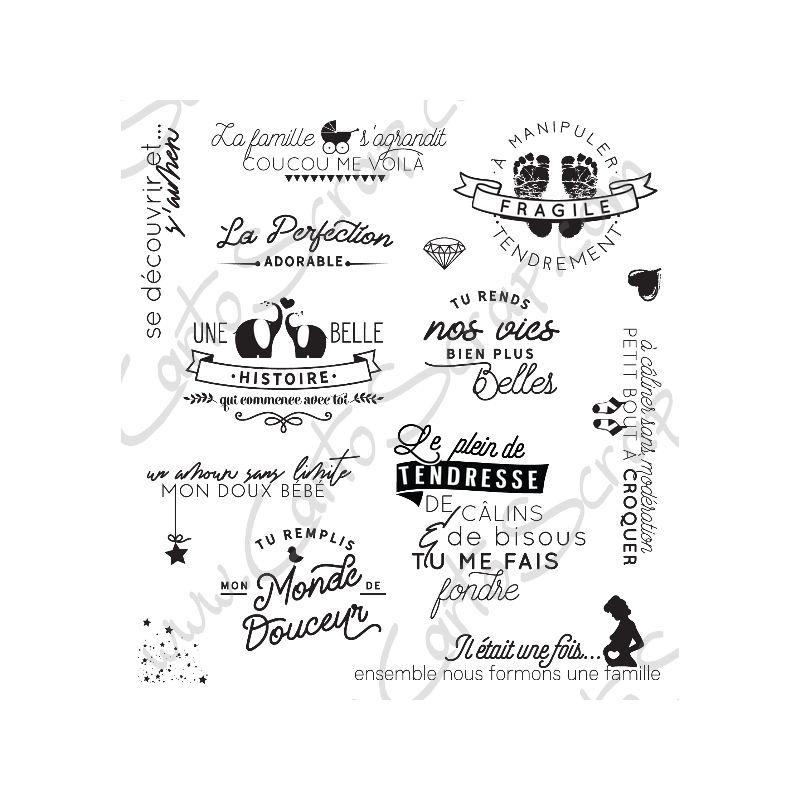 Tampons CartoScrap - La Famille s'Agrandit