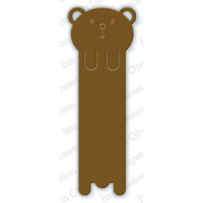Die Impression Obsession - Bear Bookmark