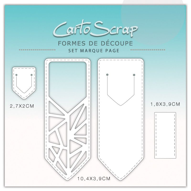 Dies CartoScrap - Set Marque-Page