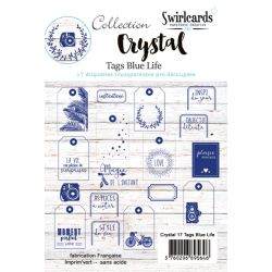 Tags Crystal Swirlcards - Blue Life